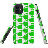 For Apple iPhone 12 mini Case, Tough Protective Back Cover, apple pattern | iCoverLover Australia