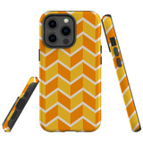 For Apple iPhone 13 Pro Max Case, Protective Back Cover, Zigzag Yellow Orange | Shielding Cases | iCoverLover.com.au