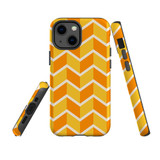 For Apple iPhone 13 Pro Case, Protective Back Cover, Zigzag Yellow Orange | Shielding Cases | iCoverLover.com.au