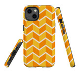 For Apple iPhone 13 Case, Protective Back Cover, Zigzag Yellow Orange | Shielding Cases | iCoverLover.com.au