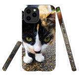 For Apple iPhone 12 Pro Max Case, Tough Protective Back Cover, Cat closeup | iCoverLover Australia