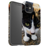 For Apple iPhone 12 Pro Max/12 Pro/12 mini Case, Tough Protective Back Cover, Cat closeup | iCoverLover Australia