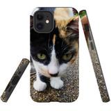 For Apple iPhone 12 mini Case, Tough Protective Back Cover, Cat closeup | iCoverLover Australia