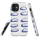 For Apple iPhone 12 Pro Max/12 Pro/12 mini Case, Tough Protective Back Cover, blue clouds | iCoverLover Australia
