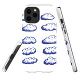 For Apple iPhone 12 mini Case, Tough Protective Back Cover, blue clouds | iCoverLover Australia