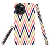For Apple iPhone 12 Pro Max Case, Tough Protective Back Cover, Zigzag salmon purple Pattern | iCoverLover Australia