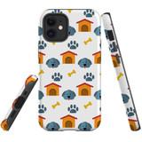For Apple iPhone 13 Pro Max/13 Pro/13 mini,12 Pro Max/12 Pro/12 mini Case, Tough Protective Back Cover, dog pattern   iCoverLover Australia