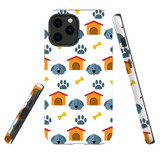 For Apple iPhone 12 Pro Max Case, Tough Protective Back Cover, dog pattern | iCoverLover Australia