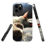 For Apple iPhone 12 mini Case, Tough Protective Back Cover, Cozy Cat | iCoverLover Australia