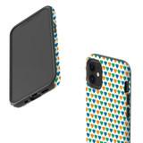 For Apple iPhone 12 Pro Max/12 Pro/12 mini Case, Tough Protective Back Cover, colourful heart pattern   iCoverLover Australia