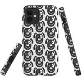 For Apple iPhone 12 Pro Max Case, Tough Protective Back Cover, dog heapattern | iCoverLover Australia