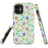 For Apple iPhone 13 Pro Max/13 Pro/13 mini,12 Pro Max/12 Pro/12 mini Case, Tough Protective Back Cover, Flowers Pattern colourful   iCoverLover Australia