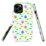 For Apple iPhone 12 Pro Max Case, Tough Protective Back Cover, Flowers Pattern colourful   iCoverLover Australia