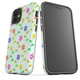 For Apple iPhone 12 Pro Max/12 Pro/12 mini Case, Tough Protective Back Cover, Flowers Pattern colourful | iCoverLover Australia