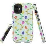 For Apple iPhone 12 mini Case, Tough Protective Back Cover, Flowers Pattern colourful   iCoverLover Australia