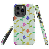 For Apple iPhone 13 Pro Case, Protective Back Cover, Colourful Flowers   Shielding Cases   iCoverLover.com.au
