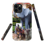 For Apple iPhone 12 Pro Max Case, Tough Protective Back Cover, thai elephant statues | iCoverLover Australia