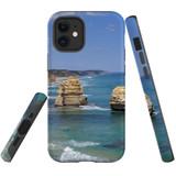 For Apple iPhone 12 mini Case, Tough Protective Back Cover, great ocean roarocks | iCoverLover Australia