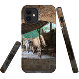 For Apple iPhone 12 mini Case, Tough Protective Back Cover, the donkey carriage | iCoverLover Australia