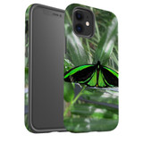 For Apple iPhone 12 Pro Max/12 Pro/12 mini Case, Tough Protective Back Cover, green butterfly   iCoverLover Australia