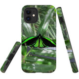 For Apple iPhone 12 mini Case, Tough Protective Back Cover, green butterfly   iCoverLover Australia