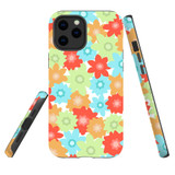 For Apple iPhone 12 Pro Max Case, Tough Protective Back Cover, Flowers_Pattern | iCoverLover Australia