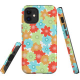 For Apple iPhone 12 mini Case, Tough Protective Back Cover, Flowers_Pattern | iCoverLover Australia