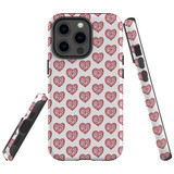 For Apple iPhone 13 Pro Case, Protective Back Cover, Red Hearts | Shielding Cases | iCoverLover.com.au