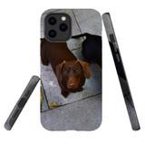 For Apple iPhone 12 Pro Max Case, Tough Protective Back Cover, tan daschunvivi 2 | iCoverLover Australia