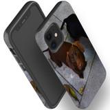 For Apple iPhone 12 Pro Max/12 Pro/12 mini Case, Tough Protective Back Cover, tan daschunvivi 2 | iCoverLover Australia