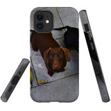 For Apple iPhone 12 mini Case, Tough Protective Back Cover, tan daschunvivi 2 | iCoverLover Australia