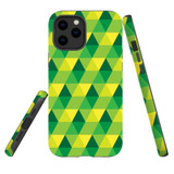 For Apple iPhone 12 Pro Max Case, Tough Protective Back Cover, green yellow pattern | iCoverLover Australia