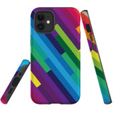 For Apple iPhone 12 Pro Max/12 Pro/12 mini Case, Tough Protective Back Cover, rainbow pattern | iCoverLover Australia