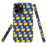 For Apple iPhone 12 Pro Max Case, Tough Protective Back Cover, yellow duckies pattern | iCoverLover Australia