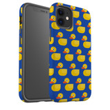 For Apple iPhone 12 Pro Max/12 Pro/12 mini Case, Tough Protective Back Cover, yellow duckies pattern | iCoverLover Australia