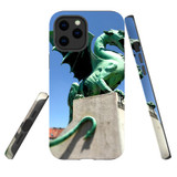 For Apple iPhone 12 Pro Max Case, Tough Protective Back Cover, green dragon statue | iCoverLover Australia