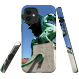 For Apple iPhone 12 mini Case, Tough Protective Back Cover, green dragon statue | iCoverLover Australia