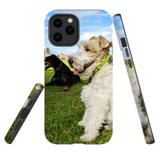 For Apple iPhone 12 Pro Max Case, Tough Protective Back Cover, three dogs 1   iCoverLover Australia