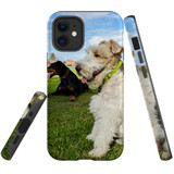 For Apple iPhone 12 mini Case, Tough Protective Back Cover, three dogs 1   iCoverLover Australia