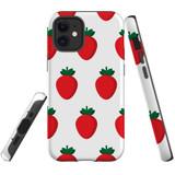 For Apple iPhone 12 Pro Max/12 Pro/12 mini Case, Tough Protective Back Cover, strawberry pattern | iCoverLover Australia