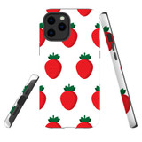 For Apple iPhone 12 mini Case, Tough Protective Back Cover, strawberry pattern | iCoverLover Australia