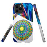 For Apple iPhone 12 Pro Max Case, Tough Protective Back Cover, Pencil Coloring Portrait | iCoverLover Australia