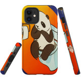 For Apple iPhone 12 mini (5.4in) Case, Tough Protective Back Cover, panda toilet | iCoverLover Australia