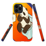 For Apple iPhone 12 Pro Max Case, Tough Protective Back Cover, panda toilet | iCoverLover Australia