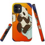 For Apple iPhone 12 mini Case, Tough Protective Back Cover, panda toilet | iCoverLover Australia