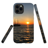 For Apple iPhone 12 Pro Max Case, Tough Protective Back Cover, Sailing Sunset   iCoverLover Australia