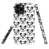 For Apple iPhone 12 Pro Max Case, Tough Protective Back Cover, panda heapattern | iCoverLover Australia