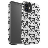 For Apple iPhone 12 Pro Max/12 Pro/12 mini Case, Tough Protective Back Cover, panda heapattern | iCoverLover Australia