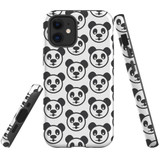 For Apple iPhone 12 mini Case, Tough Protective Back Cover, panda heapattern | iCoverLover Australia