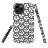 For Apple iPhone 12 mini Case, Tough Protective Back Cover, grey star pattern   iCoverLover Australia
